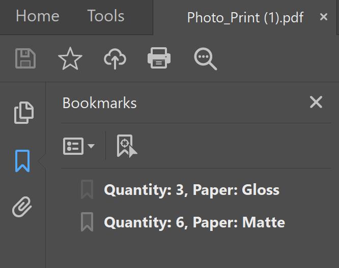 PDF Bookmark